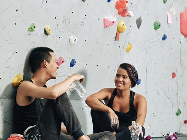 bouldering climber social community