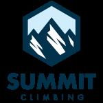 Summit Climbing gyms logo blue
